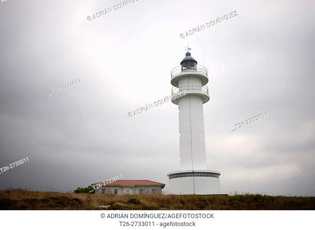Lighthouse in Ajo town in Cantabrian coast