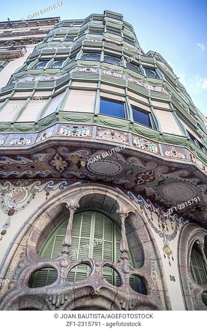 Casa Comalat, modernist building designed by Salvador Valeri i Pupurull, Barcelona