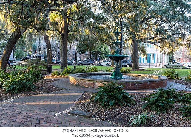 Savannah, Georgia. Lafayette Square
