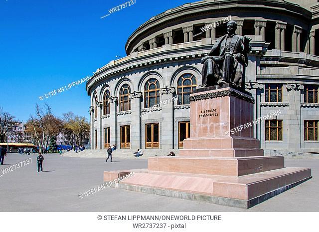 Armenia, Yerevan, Kentron, the opera house of architect Alexander Tamanjan
