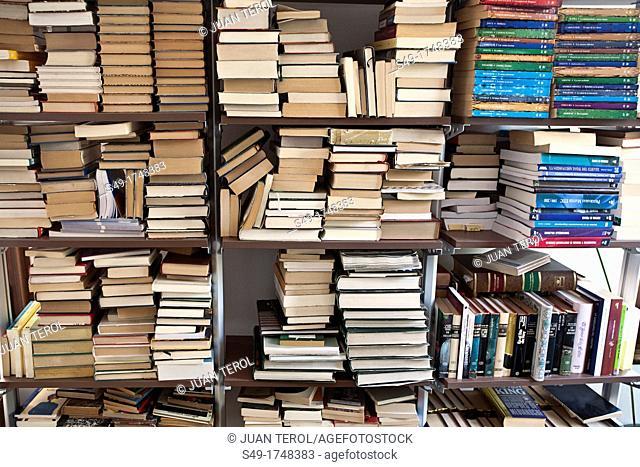 shelf full of books