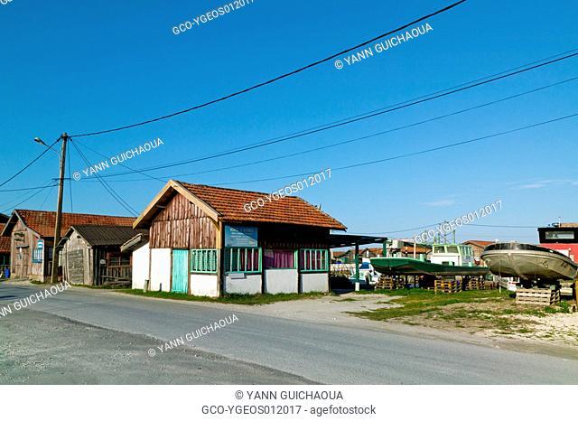Harbour Of Larros,Gujan-Mestras, Arcachon Bay, Gironde Aquitaine, France