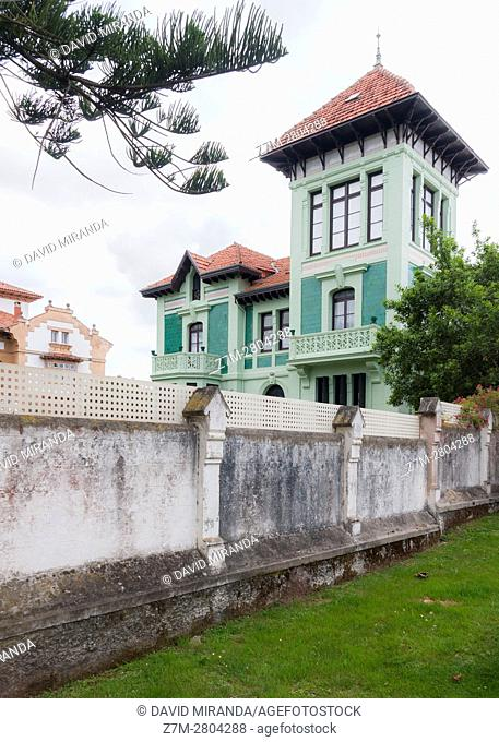 Indianos House, Ribadesella village, Asturias, Spain. Historical Heritage Site