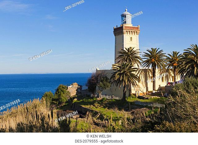 The lighthouse at cape spartel near tangiers, morocco