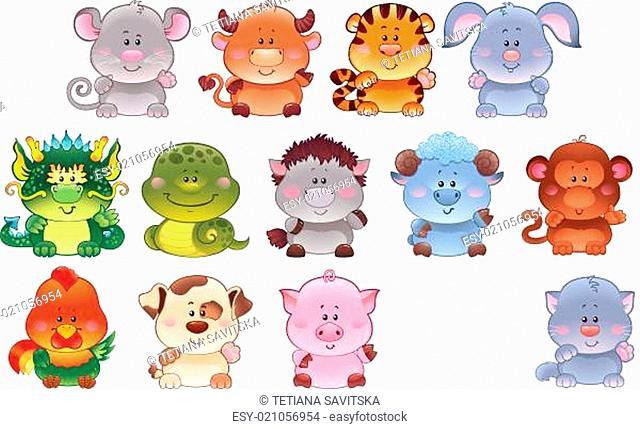 Symbols of Chinese horoscope
