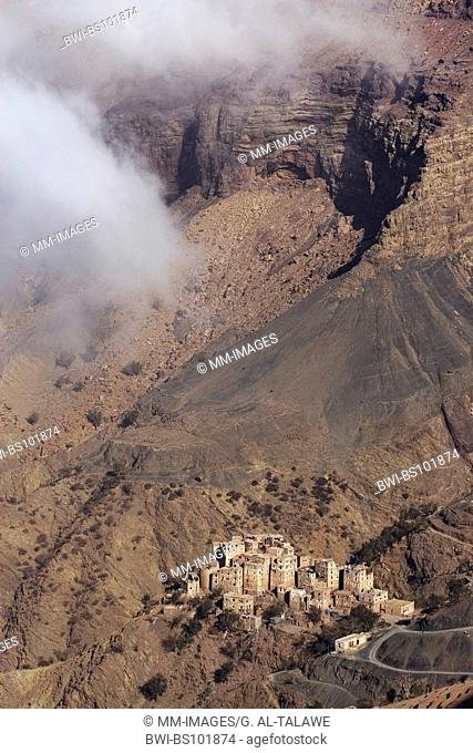 mountain village in Jemen, Yemen, Hajja