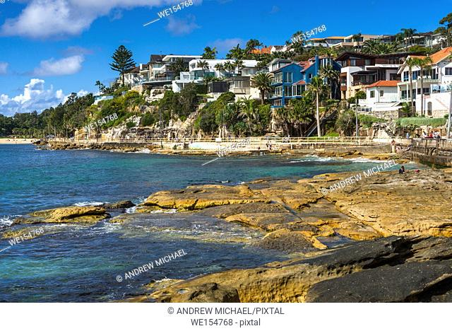 Manly seafront leading to Shelly beach, Northern beaches, Sydney, New South Wales, Australia