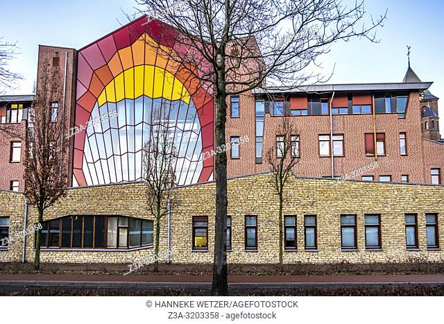 Town Hall and Public Library in Reusel, The Netherlands, Europe