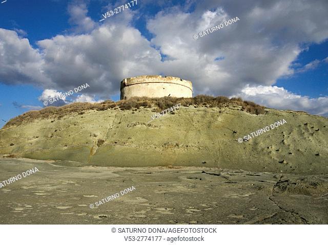 Aragonese tower, Bosa Marina, Sardinia, Italy
