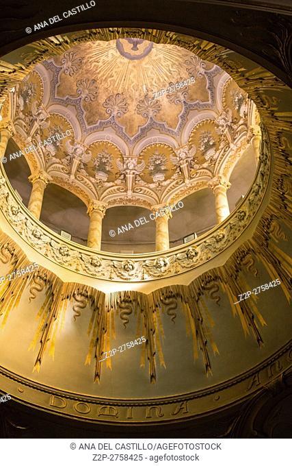 Turin in Piedmont on September 2016 in Italy. Madonna degli Angeli interior