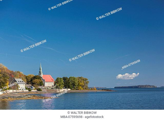 Canada, Quebec, Ile d'Orleans, Saint-Jean, Cimitiere Marin, sailor's cemetery