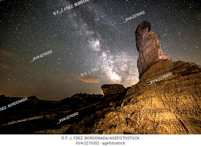 La Cobeta rock formation is a simbol of Monegros comarque. Huesca, Aragon, Spain