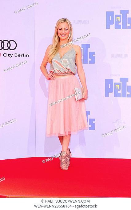 German premiere of 'Pets' at CineStar IMAX Sony Center at Potsdamer Platz. Featuring: Syra Feiser Where: Berlin, Germany When: 20 Jul 2016 Credit: Ralf...