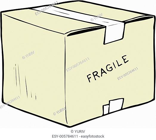 Handle With Care Box . Vector