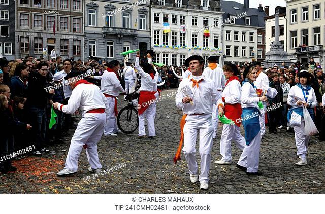 Belgium, Walloonia, Liege province, Stavelot city, laetare carnival