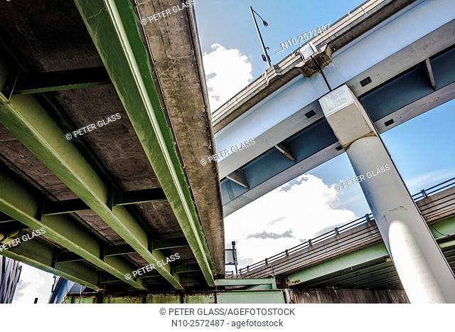 Highway seen from underneath
