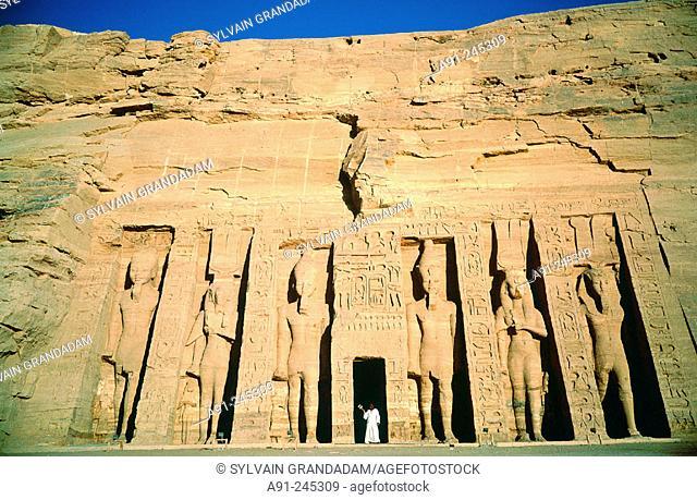 Nefertari Temple in Abu Simbel. Egypt