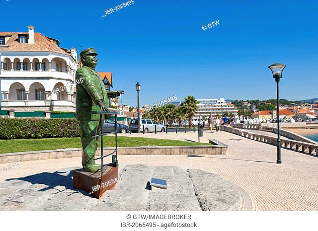 Statue of King D. Carlos I, Cascais, Lisbon Coast, Portugal, Europe
