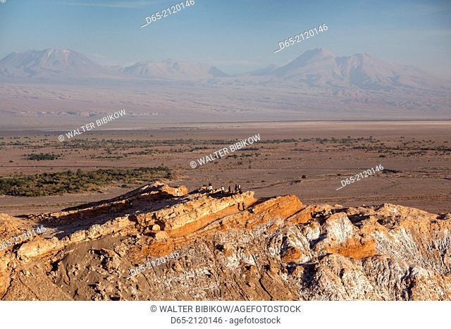 Chile, Atacama Desert, San Pedro de Atacama, Valle de la Muerte rock formation, dusk