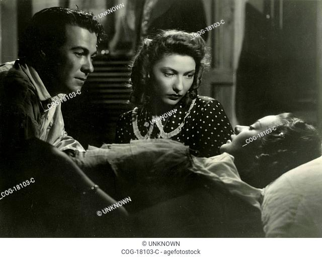 French actors Georges Rigaud and Corinne Luchaire in the movie Abbandono, Italy 1940