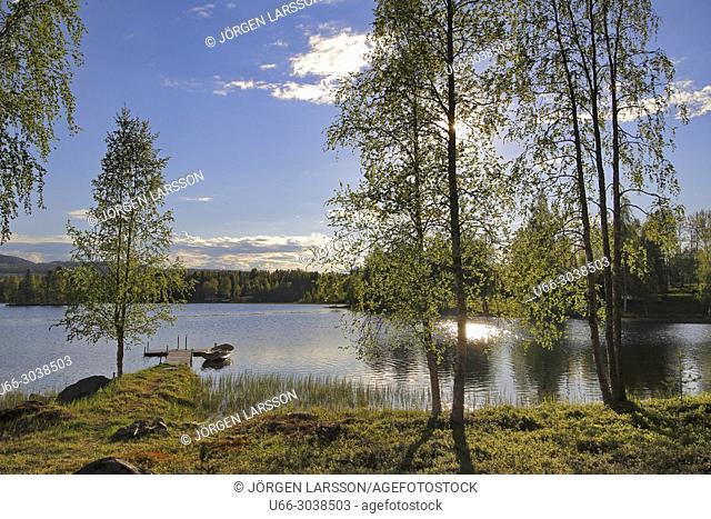 Lake at Boden, Vasterbotten, Sweden