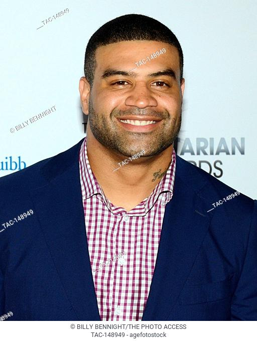 Shawne Merriman attends the 3rd Annual Sports Humanitarian of the Year Awards at LA LIVE'S The Novo in Los Angeles on July 11, 2017
