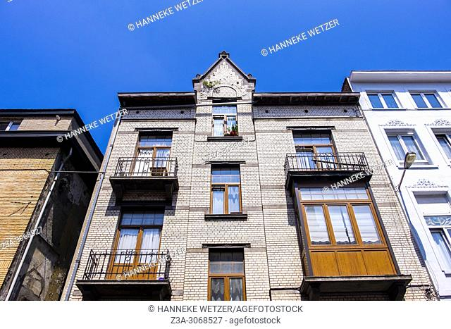 Traditional housing in Brussels, Belgium, Europe
