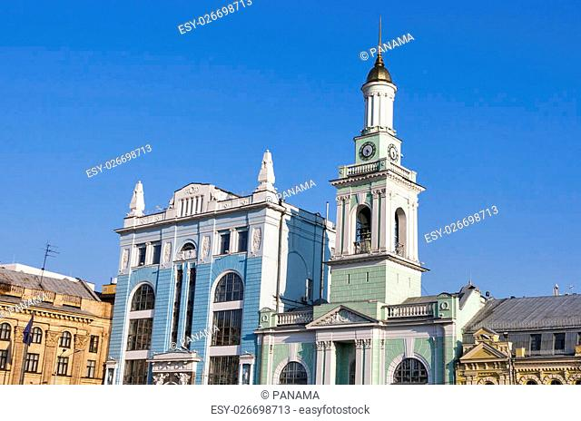 The former Greek Monastery on the Kontraktova Square in Kiev, Ukraine. The building currently hosts General Directorate of the National Bank