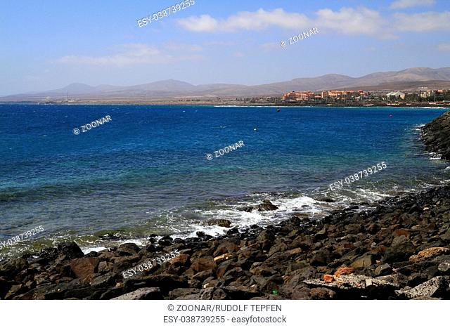 The famous lagoon in Caleta del Fuste, Fuerteventura
