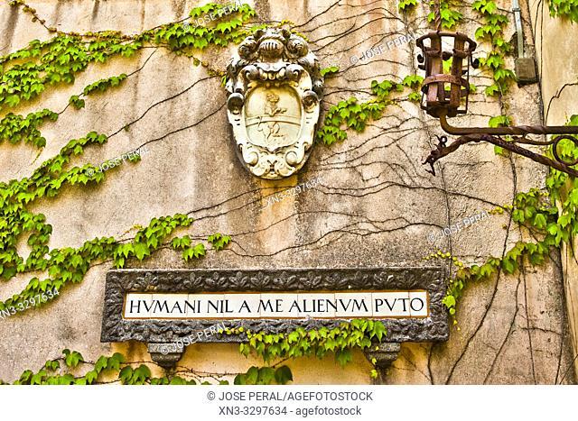 Latin proverb, humani nil a me alienum puto, Villa Cimbrone, Ravello, Amalfi Coast, Campania, Italy, Europe