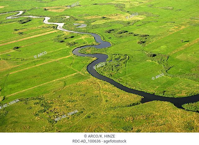 River Narew Narew national park Poland meandering