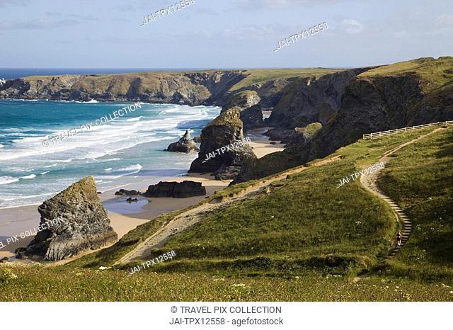 England, Cornwall, Bedruthan Steps Carnewas