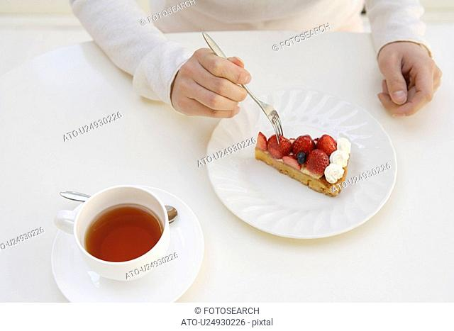 View of beverage and pastry served on a table