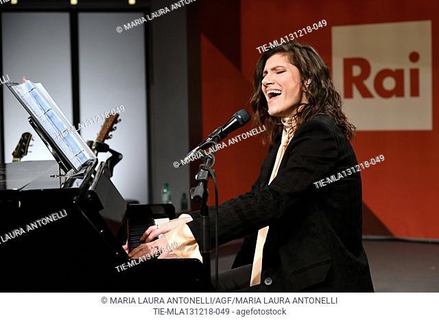 Italian singer Elisa in concert at Radio2 in Rome, ITALY-12-12-2018