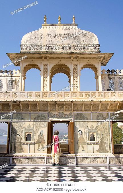 Woman at City Palace, Udaipur, Rajastan, India