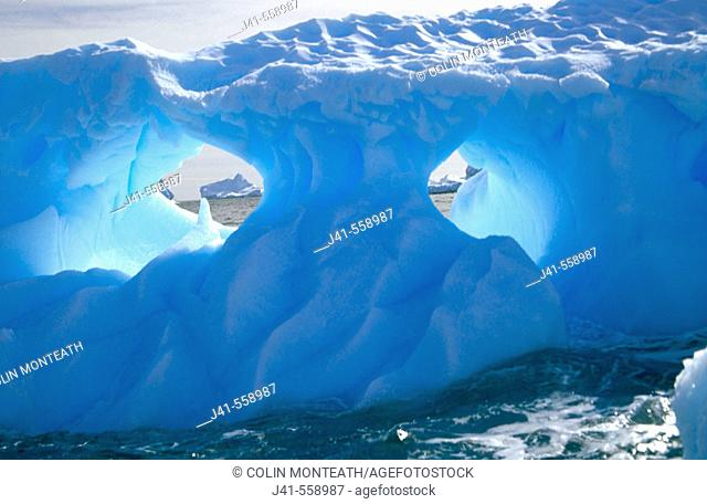 Fluted Iceberg. South Orkney Island,  Antarctica