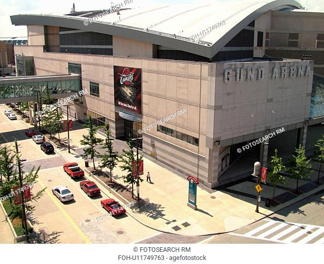 Cleveland, OH, Ohio, Downtown, Gund Arena, NBA Basketball, Cavaliers