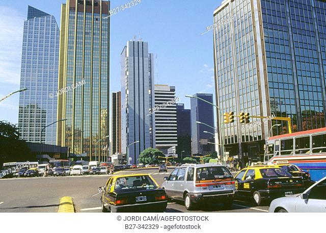 Avenida Libertador buildings, near Plaza San Martín. Buenos Aires. Argentina