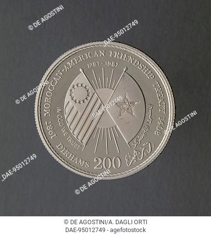 200 dirham silver coin commemorating the Treaty of