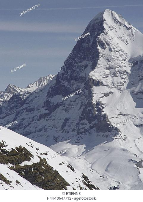 10647712, alpine, Alps, mountains, Bernese Oberland, Eiger, mountain, Eigernordwand, canton Bern, scenery, north face, snow, S