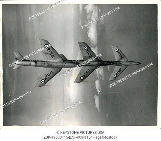 1966 - R.A.First Supersonic Jet Acrobatic Display Team Practice: First Picture of the R.A.F.'s Supersonic Jet Aerobatic display team