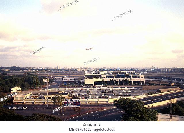 India, Maharashtra, Mumbai, Santacruz,  Airport  Asia, city, city, air port parking place park deck airplane trip, vacation, flight trip, takeoff, start