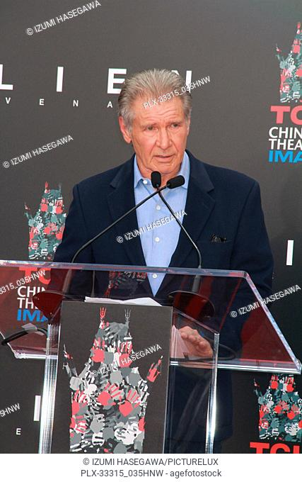 Harrison Ford 05/17/2017 Sir Ridley Scott Hand and Footprint Ceremony held at the TCL Chinese Theater in Los Angeles, CA Photo by Izumi Hasegawa / HNW /...