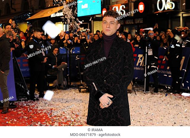 Irama on the Red Carpet of the 69th Sanremo Music Festival. Sanremo (Italy), Fabruary 4th, 2019