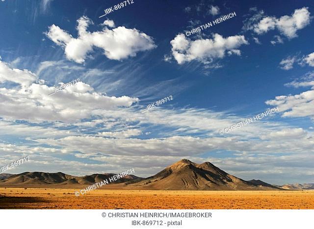 Cloudy sky over the Tiras Mountains, Tiras, NamibRand Nature Reserve, Namib Desert, Namibia, Africa