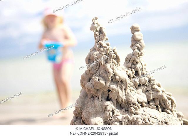 Sandcastle, close-up