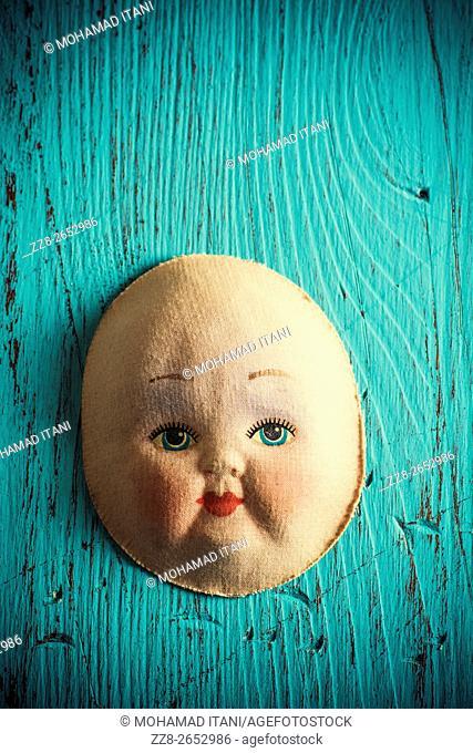 Vintage doll face