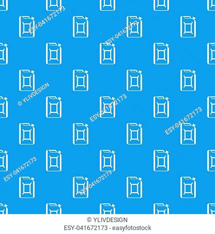 Flask for gasoline pattern repeat seamless in blue color for any design. geometric illustration