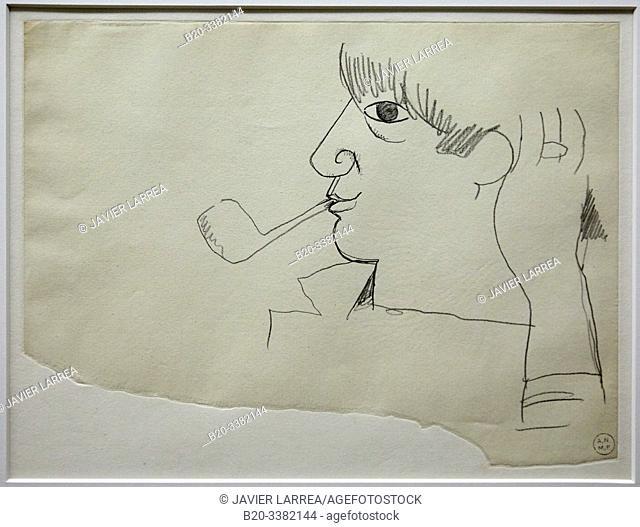 """""""Portrait de Picasso"""", 1917, Jean Cocteau, Picasso Museum, Paris, France, Europe"""