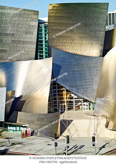 Walt Disney Concert Hall. Disney Hall was designed by architect Frank Gehry. Los Angeles, California
